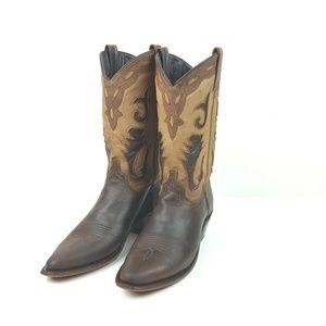 SAGE|Brown Two Tone Abilene Cowboy Western Boots
